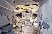 Inuti rymdskeppet upptäckten med utsikt till kontrollpanelen — Stockfoto