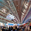 Stock Photo: Public day for Frankfurt Book fair, visitors inside hall