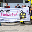 Demonstrate for shutting down the German nuclear power pl — Stock Photo