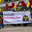 Demonstration for shutting down the German nuclear power plants — Stock Photo