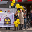 Demonstrate for shutting down the German nuclear power pl - Stock Photo