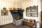 The historic kitchen with iron oven in the Goethe museum — Stock Photo