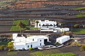 Farmhouse in rural hilly area in Lanzarote — Stock Photo