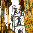 Stock Photo: Worker renovate temple in Grand palace