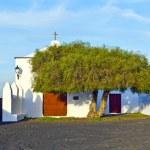 Beautiful chapel in Wine area la Geria, Lanzarote. — Stock Photo
