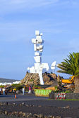 Visit memorial el Campesino — Stock Photo
