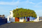 Beautiful chapel in Wine area la Geria, Lanzarote. — Stock Photo