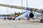 Board the flight home — Stock Photo