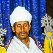 Coptic priest in Ethiopia in his church - Stok fotoraf