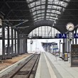 Railway station in Wiesbaden — Stock Photo