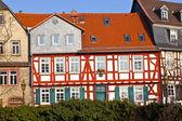 Belas casas em estilo enxaimel em frankfurt hoechst — Foto Stock