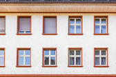 Facade of an old house with window — Stock Photo