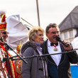 Carnival move to the Roemer with music to enter the town - Stockfoto