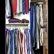 Wardrobe of a man — Stock Photo