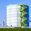 Silo in Industry Park in beautiful landscape near Frankfurt — Stock Photo