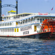 Missisippi Queen steam boat in Hamburg - Stock Photo