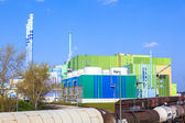 Power plant of an Industry Park in beautiful landscape near Fran — Stock Photo