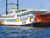 Missisippi Queen steam boat in Hamburg — Stock Photo