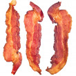 Cooked bacon strips — Stock Photo