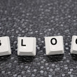 Stock Photo: Blog keys