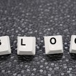 Blog keys - Stock Photo
