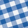 Blue tablecloth - Stock Photo