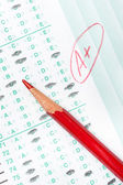Graded test form — Stock Photo