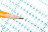 Pencil on test form — Stock Photo