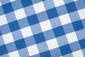Blue tablecloth — Stock Photo