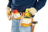Man wearing tool belt — Stock Photo