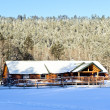 Cabin in snow - Stock Photo