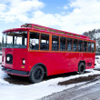 Antique red bus - Stock Photo