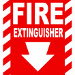 Stock Photo: Fire extinguisher sign