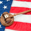Royalty-Free Stock Photo: Gavel on American flag