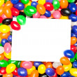 Card and jellybeans - Stock Photo