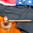 Gavel and gown — Stock Photo