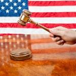 Judge and gavel — Stock Photo