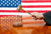 Judge and gavel — Stock Photo