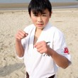 Karate boy - Stock Photo