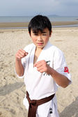 Karate boy — Stock Photo