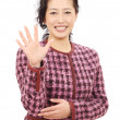 Asian woman smiling — Stock Photo