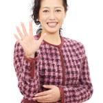 Asian woman smiling — Stock Photo