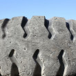 Stock Photo: Old car tyre