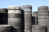 Old car tyres — Stock Photo