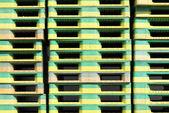 Plastic pallets — Stock Photo