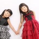 dvě asijské holčičky — Stock fotografie