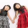 Two little asian girls — Stok fotoğraf #9634628