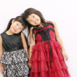 Stock Photo: Two little asian girls