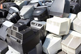 Old broken computers monitors — Stock Photo