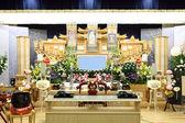 Begrafenis scène — Stockfoto